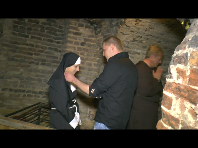 Nun fucked in the monastery basement