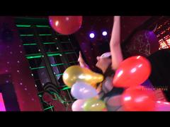 69 Luftballons mit Arielle zum Horizont