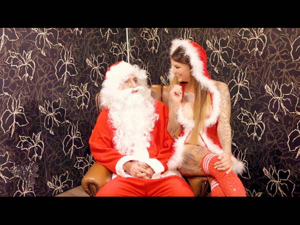 Oh no! Sentenced by Santa Claus personally in all holes!
